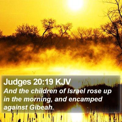Judges 20:19 KJV Bible Verse Image