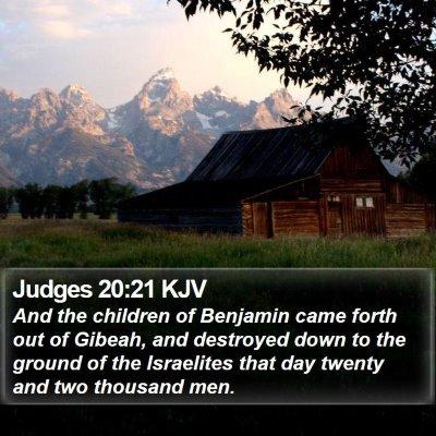 Judges 20:21 KJV Bible Verse Image