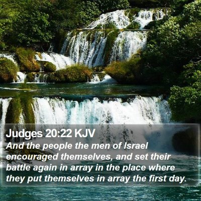 Judges 20:22 KJV Bible Verse Image