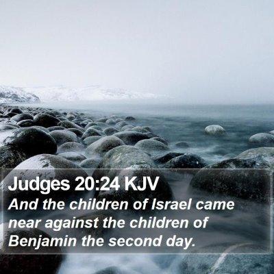 Judges 20:24 KJV Bible Verse Image