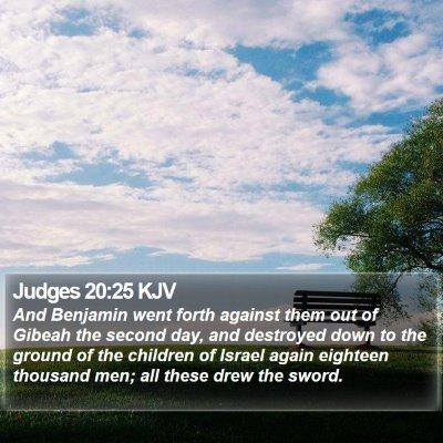 Judges 20:25 KJV Bible Verse Image