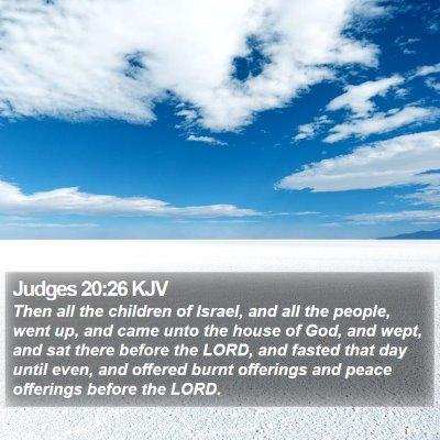 Judges 20:26 KJV Bible Verse Image