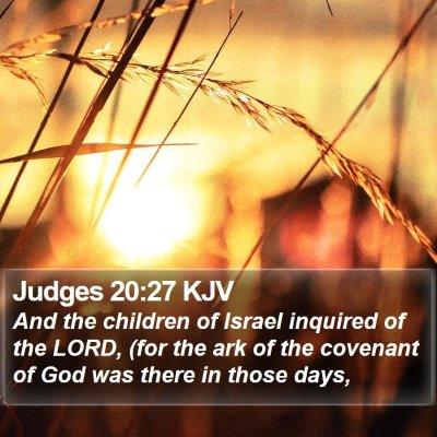 Judges 20:27 KJV Bible Verse Image