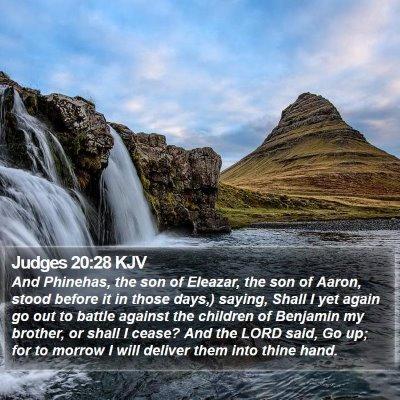 Judges 20:28 KJV Bible Verse Image