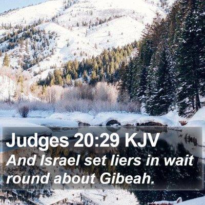 Judges 20:29 KJV Bible Verse Image