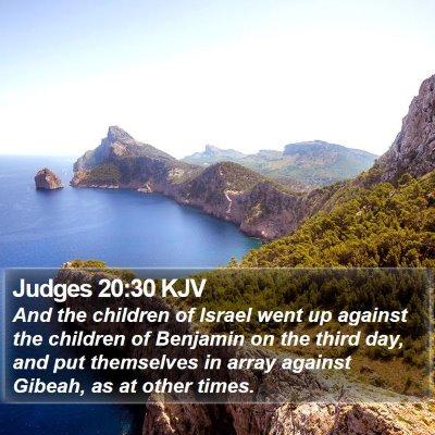 Judges 20:30 KJV Bible Verse Image
