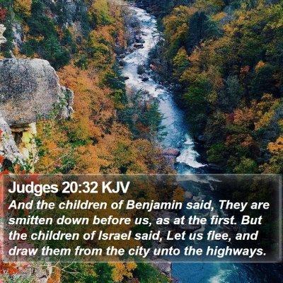 Judges 20:32 KJV Bible Verse Image