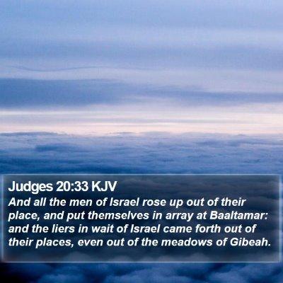 Judges 20:33 KJV Bible Verse Image