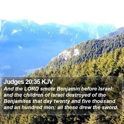 Judges 20:35 KJV Bible Verse Image