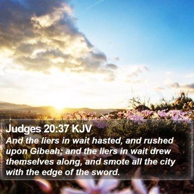 Judges 20:37 KJV Bible Verse Image