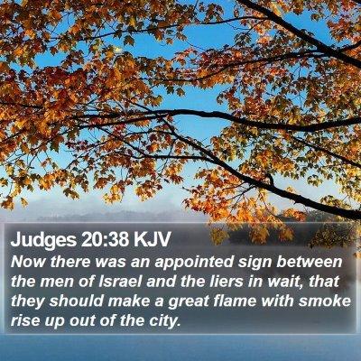 Judges 20:38 KJV Bible Verse Image