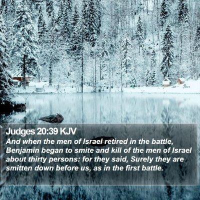 Judges 20:39 KJV Bible Verse Image