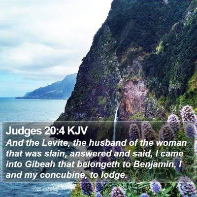 Judges 20:4 KJV Bible Verse Image