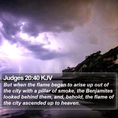 Judges 20:40 KJV Bible Verse Image