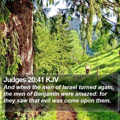 Judges 20:41 KJV Bible Verse Image