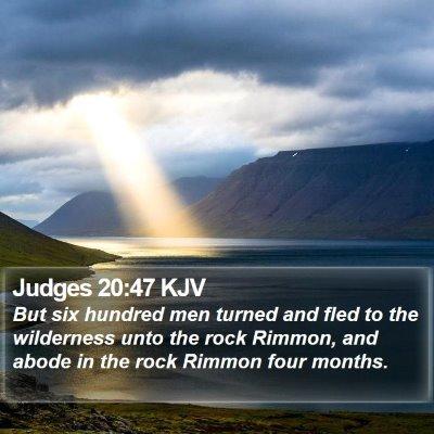Judges 20:47 KJV Bible Verse Image