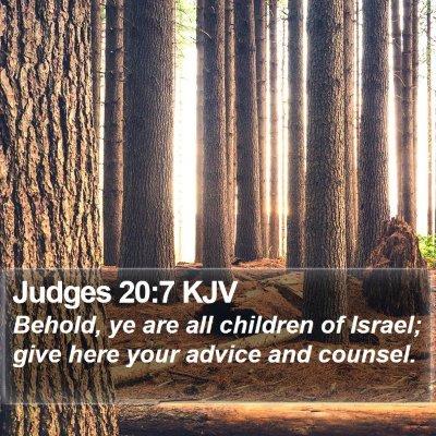 Judges 20:7 KJV Bible Verse Image