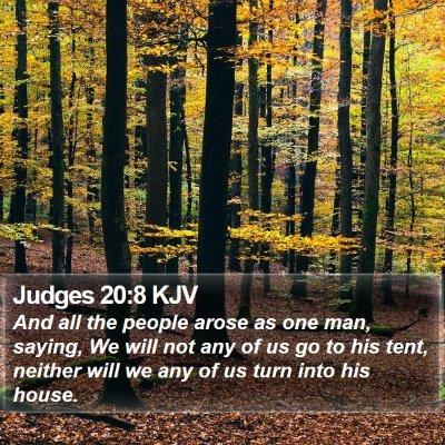 Judges 20:8 KJV Bible Verse Image