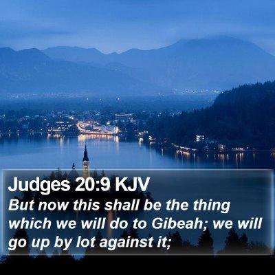 Judges 20:9 KJV Bible Verse Image
