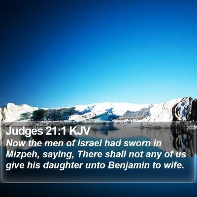 Judges 21:1 KJV Bible Verse Image