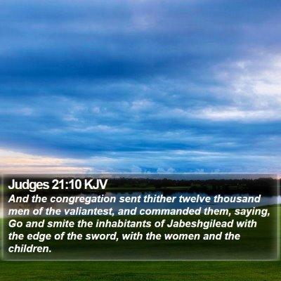 Judges 21:10 KJV Bible Verse Image