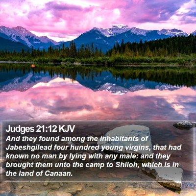 Judges 21:12 KJV Bible Verse Image