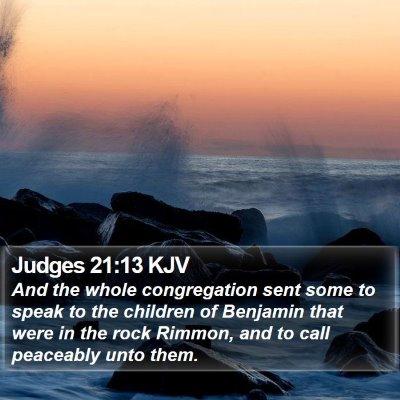 Judges 21:13 KJV Bible Verse Image