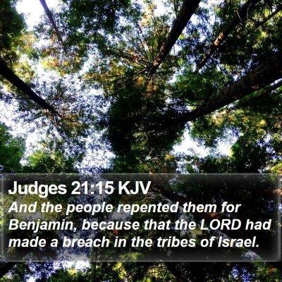 Judges 21:15 KJV Bible Verse Image