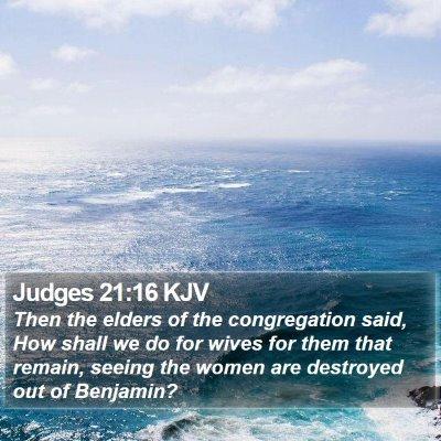 Judges 21:16 KJV Bible Verse Image