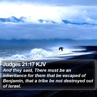 Judges 21:17 KJV Bible Verse Image