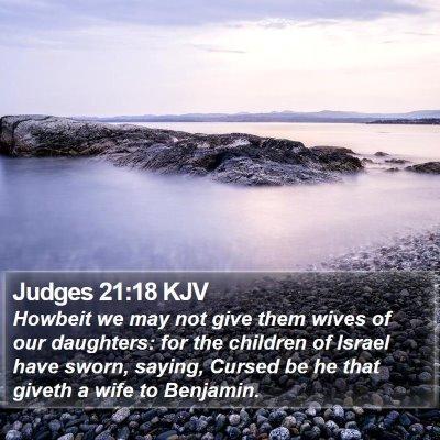 Judges 21:18 KJV Bible Verse Image