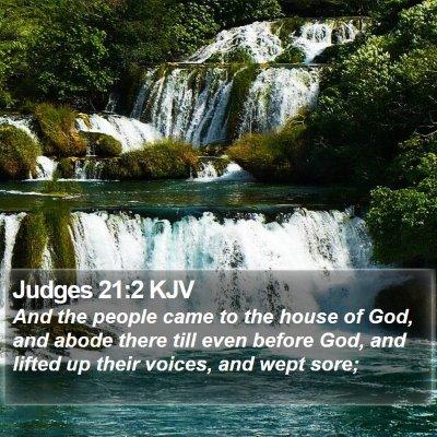 Judges 21:2 KJV Bible Verse Image
