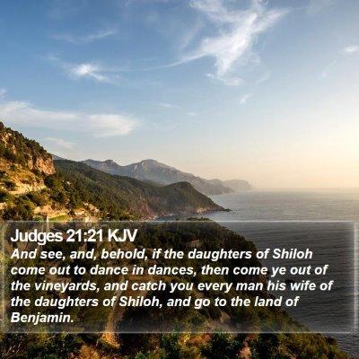 Judges 21:21 KJV Bible Verse Image