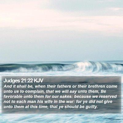 Judges 21:22 KJV Bible Verse Image