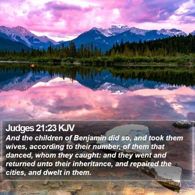 Judges 21:23 KJV Bible Verse Image