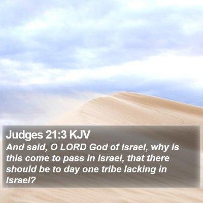 Judges 21:3 KJV Bible Verse Image