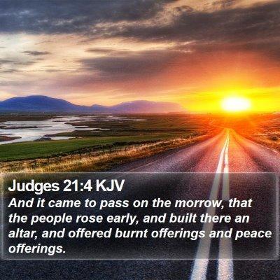 Judges 21:4 KJV Bible Verse Image