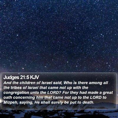 Judges 21:5 KJV Bible Verse Image