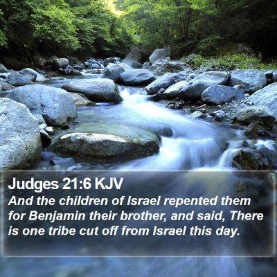 Judges 21:6 KJV Bible Verse Image