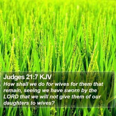 Judges 21:7 KJV Bible Verse Image