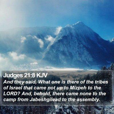 Judges 21:8 KJV Bible Verse Image