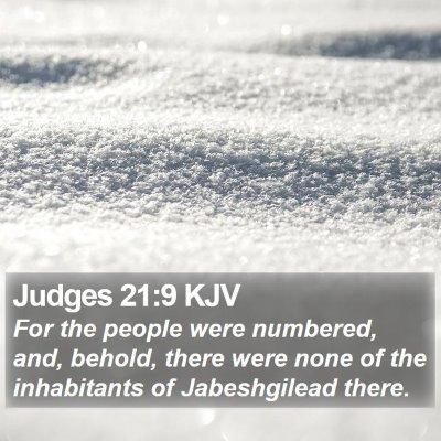 Judges 21:9 KJV Bible Verse Image