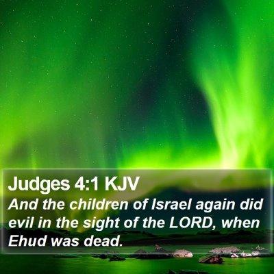 Judges 4:1 KJV Bible Verse Image