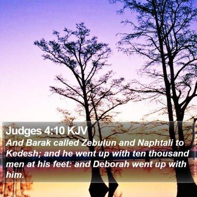 Judges 4:10 KJV Bible Verse Image