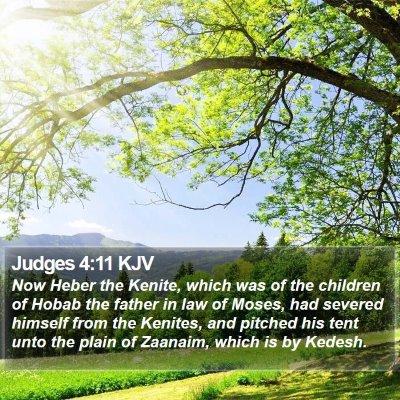Judges 4:11 KJV Bible Verse Image