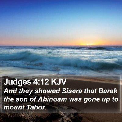 Judges 4:12 KJV Bible Verse Image