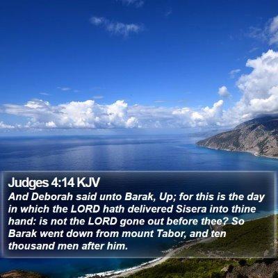Judges 4:14 KJV Bible Verse Image