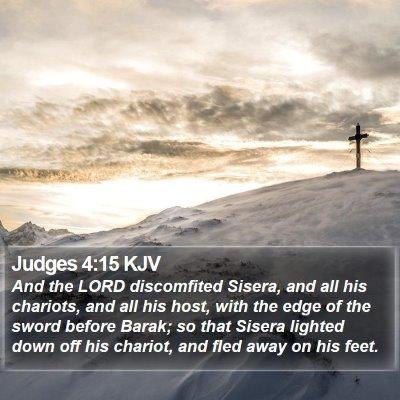 Judges 4:15 KJV Bible Verse Image
