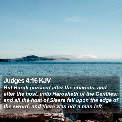 Judges 4:16 KJV Bible Verse Image