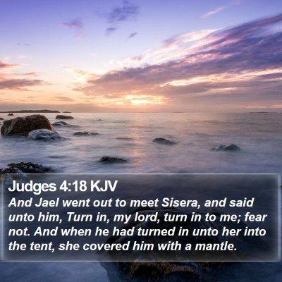 Judges 4:18 KJV Bible Verse Image